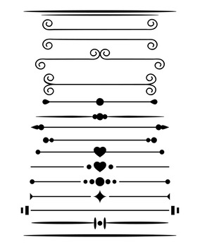 Page Dividers Png : dividers, Simple, Dividers, Clipart,, Border, Divider,, Header,, Vector