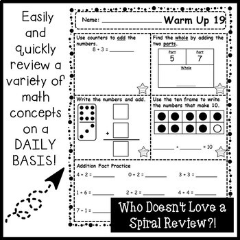 180 Days of Math Warm Ups (1st Grade Edition) by The