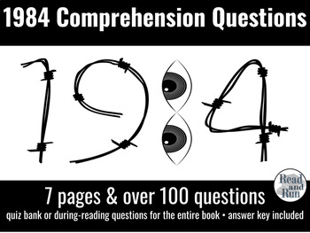 1984 Comprehension Questions for During Reading or Quizzes