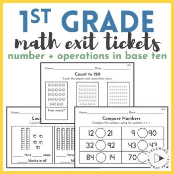  1st Grade Common Core  Math NBT Quick Checks or Exit
