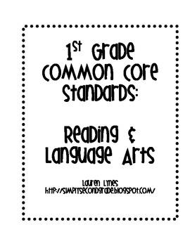 1st Grade Common Core: Reading & Language Arts by Lauren