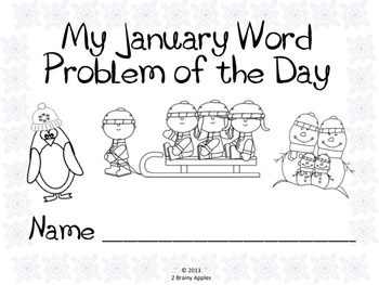 Word Problems 1st Grade, January by Heather LeBlanc
