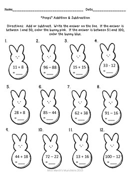 1st Grade Easter