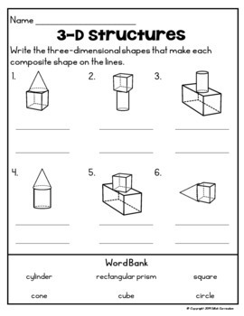 1st Grade Geometry: Composite Shapes by Silloh Curriculum