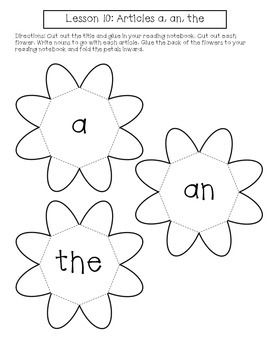 1st Grade Journeys Lesson 10 Interactive Notebook Pages by