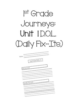 1st Grade Journeys Unit 1 Daily Fix-Its (Daily Oral