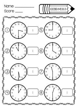 1st Grade Math Assessments- Common Core Aligned by The