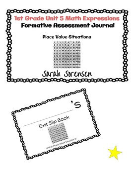 1st Grade Math Expressions Unit 5 Exit Slip Journal by