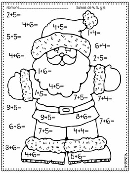 December 1st Grade Math Practice in Spanish by Angelica