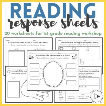 |1st Grade Common Core| Journal Response Pack for Reader's