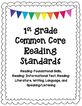 1st grade Common Core Reading Standards (FREE!) by The