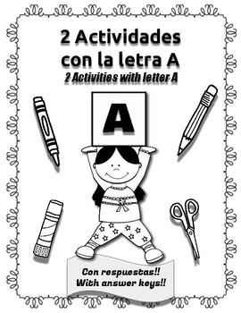 2 Actividades con la letra A (2 Activities with letter A