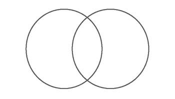 2 Circle Venn Diagram Landscape Orientation by Graphic