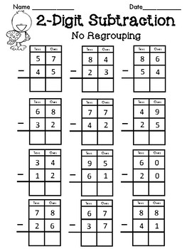 2-Digit Addition and Subtraction No Regrouping FREE by