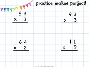 2 by 1 Digit Multiplication WITHOUT Regrouping by LD