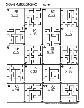 2 by 2 Multiplication Maze Printable by Marvel Math by