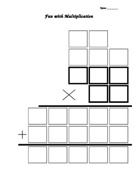 2 digit by 3 digit multiplication graphic organizer by