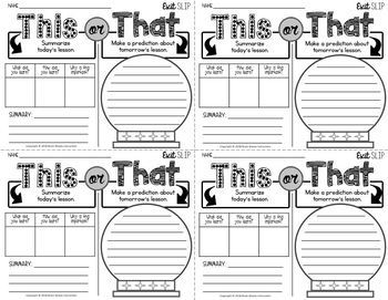 20 Exit Slips for Any Lesson