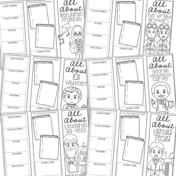 20 Famous Inventors Research Brochure Projects, Mini Book