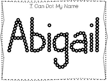 20 No Prep Abigail Name Tracing and Activities. Non