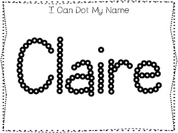 20 No Prep Claire Name Tracing and Activities. Non