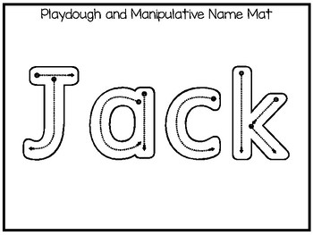 20 No Prep Jack Name Tracing and Activities. Non-editable