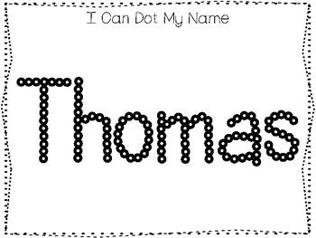 20 No Prep Thomas Name Tracing and Activities. Non
