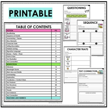 Reading Response Sheets, Reading Response Journals