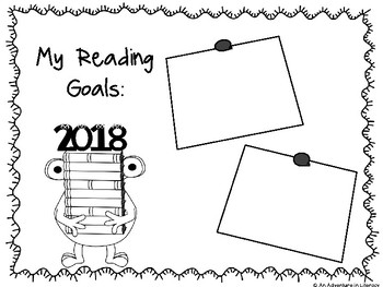New Year's Reading Goals Graphic Organizer FREEBIE by An
