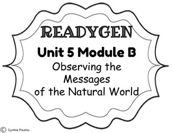 2014-2015 ReadyGen Unit 5 Module B Concept Board by Miss P