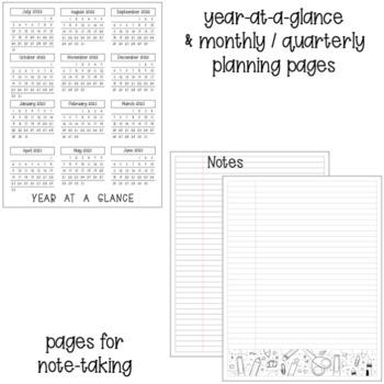2020-21 Teacher Planner Calendar {Editable} by Mrs Jones