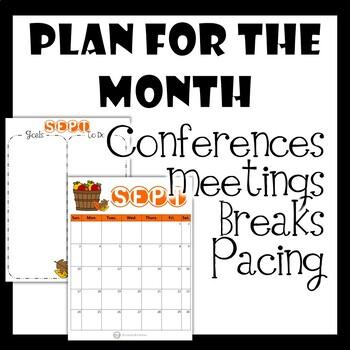 2019-2020 School Year Printable Calendar and Teacher
