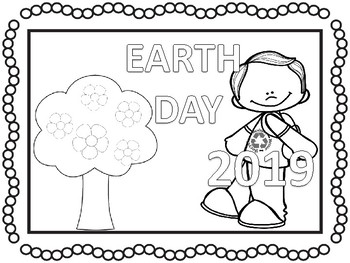 2018 EARTH DAY coloring pages and activities ( No prep