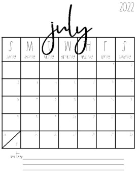 2020-2021 Blank Calendars {FREEBIE!} by Tami Teaches ...
