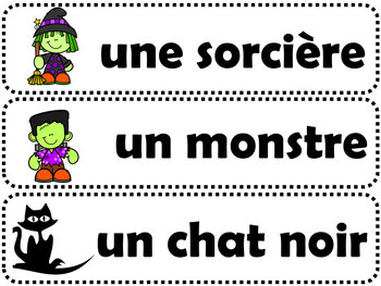 24 MOTS-ÉTIQUETTES Thème: l'automne (French Word Wall