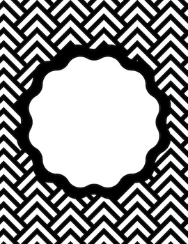 25 EDITABLE Binder Covers and Spines: The Black, White