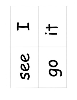 Sight Words Cards, 25 High Frequency Words: Games