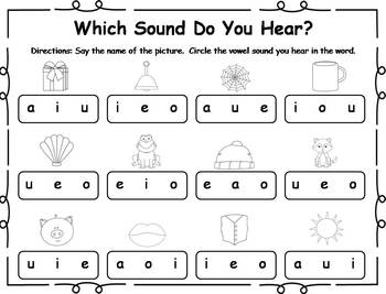25 Short Vowel Printable Practice Activities by Klever