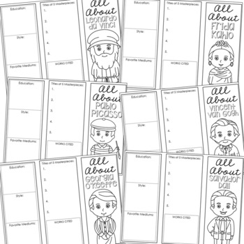 252 Research Brochure Biography Templates BUNDLE, Plus