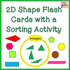 Venn Diagram Sorting Shapes Pir Wiring 2d Flash Cards With Activity Tpt