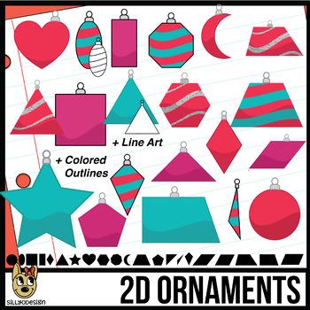 2d shapes christmas ornaments