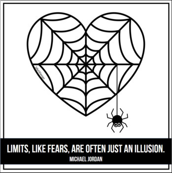 2D Shapes: Spiderwebs and Tiny Spiders Clip Art by