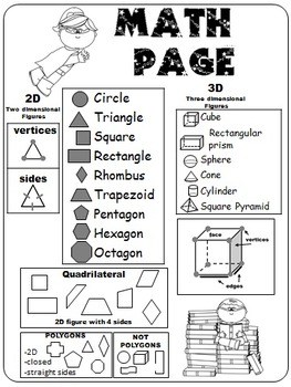2D and 3D Shapes, Identify and Sort by Attribute, Polygons