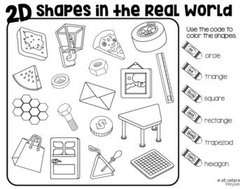 2D and 3D Shapes in the Real World Roll and Cover by et