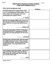 (2.OA.1) Word Problems -[2 Step]2nd Grade Common Core Math ...