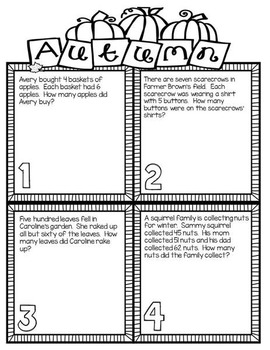 2nd & 3rd Grade Problem Solving: Autumn Edition by
