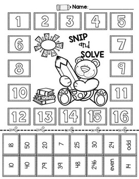 2nd & 3rd Grade Problem Solving: Back to School Edition by