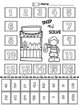 2nd & 3rd Grade Problem Solving: Carnival Edition by