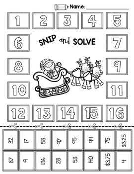 2nd & 3rd Grade Problem Solving: Christmas by Pawsitively