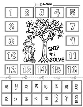 2nd & 3rd Grade Problem Solving: Fall Bundle by